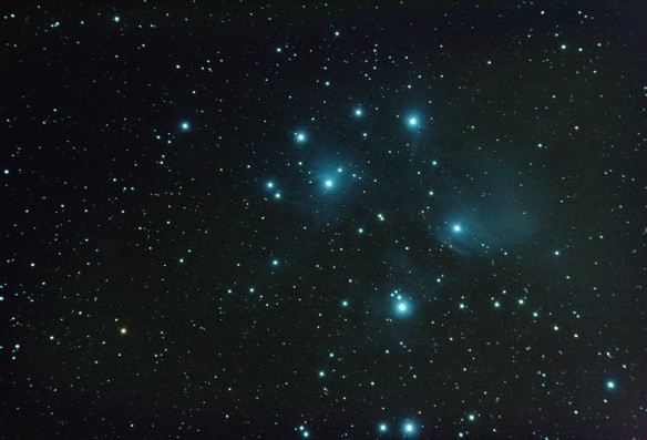 M45 with diffraction spikes added