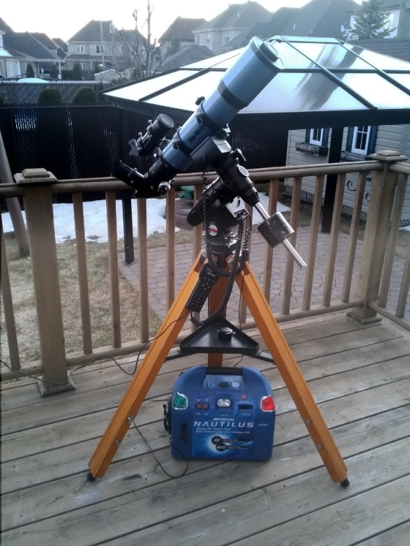 My backyard astronomy setup