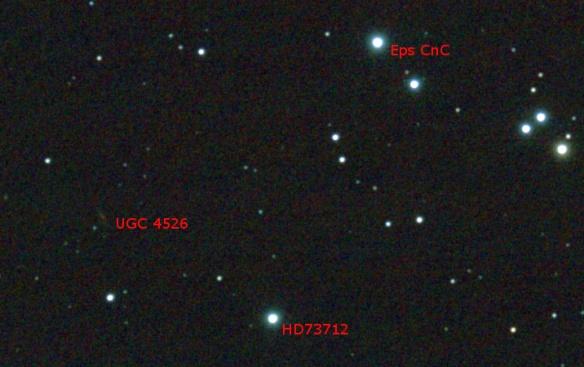 Magnitude 14 Galaxy UGC 4526 in M44 Benoit Guertin