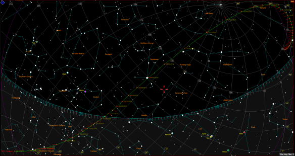 Trajectory of Comet C/2013 US10 Catalina for 2015-2016