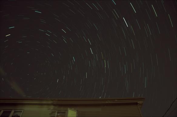 Celestial Pole on August 13, 2015 30 x 30sec
