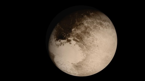 Pluto as viewed by New Horizons during flyby (14 July 2015) - NASA