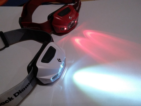 Headlamp with white and red LED