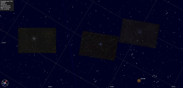M37, M36 and M38 (respectively) in Auriga