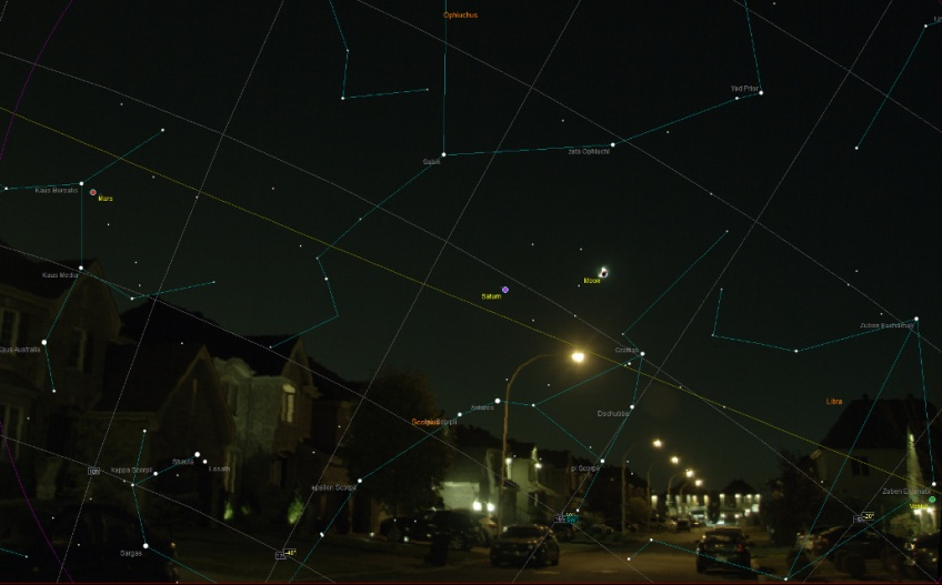 Overlay with star chart - October 5th, 2016