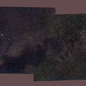 Milky Way around constellation Vulpecula