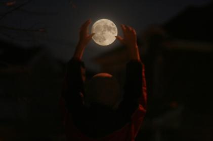 November 13th 2016 Full Moon - just ahead of the Super Moon.