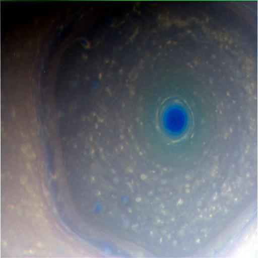 Saturn with IR, Red and Blue for RGB assignment