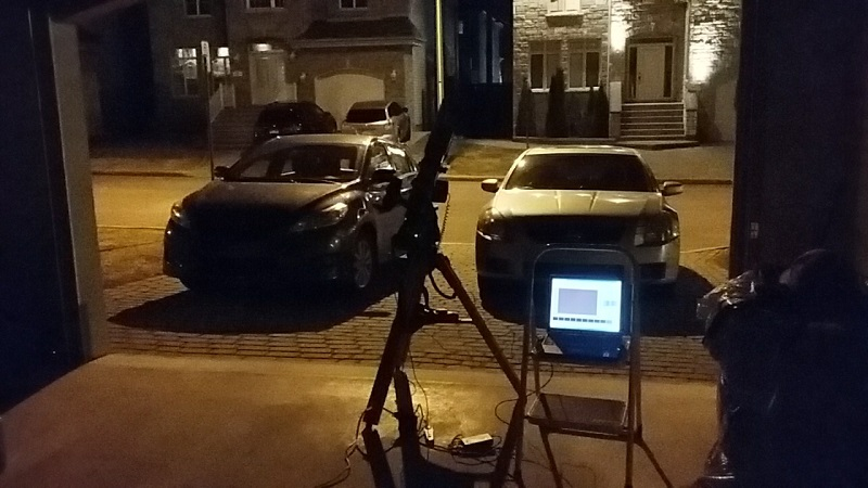 Setup in the garage to image comet in constellation Drago