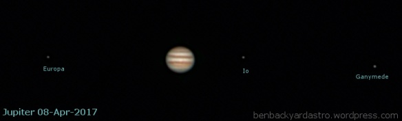 Jupiter - 2017 opposition - SW80ED and 2x barlow