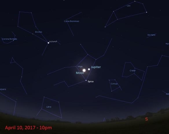 April 10th 2017 Sky Chart