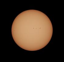 Sunspot Region 2671 (right) and 2672 (left)