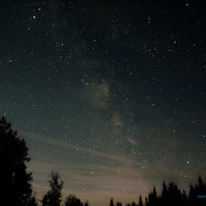 Milky Way - Sagittarius (just above the trees) to Altair (bright star upper left)