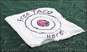 Taco Bell target for Mir re-entry (2001)