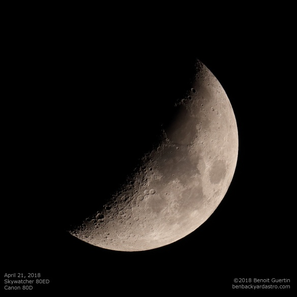 April 21, 2018 Moon. Benoit Guertin