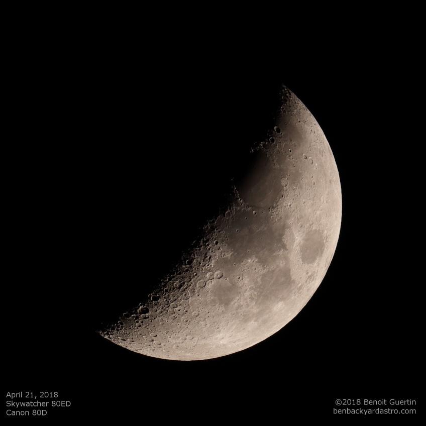 April 21, 2018 Moon. Benoit Guertin
