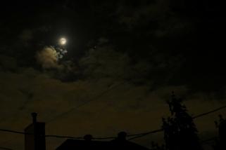 Moon and Jupiter Through the Cloud - May 27, 2018