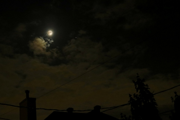 Moon and Jupiter Through the Cloud - May 27, 2018