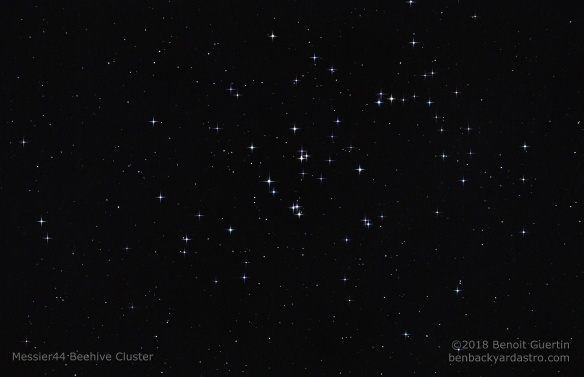 Messier 44 - Beehive Cluster. Benoit Guertin - with Skywatcher 80ED and Canon 80D
