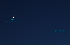 Moon and Venus within 8 degrees on June 16, 2018