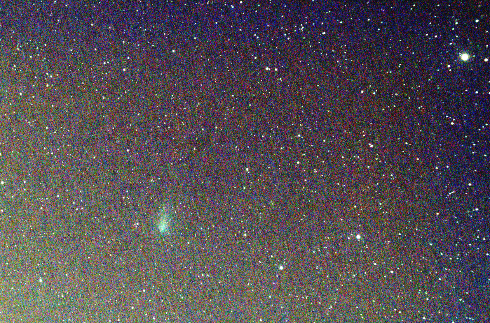 Comet C/2019 Y4 (ATLAS) on April 18, 2020 - Very faint at about magnitude 10. Imaged with 80ED telescope 25 x 15sec