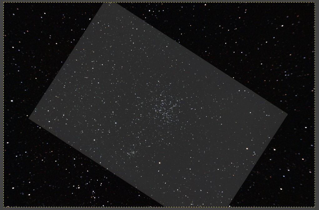 Messier 38 - Field of view with William Option GT71 and Skywatcher 80ED (brighter box)