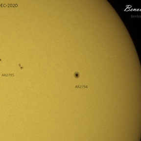 Sunspots on 2020-12-29