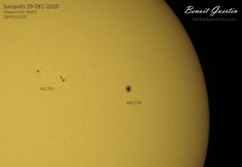 Sunspots on 2020-12-29